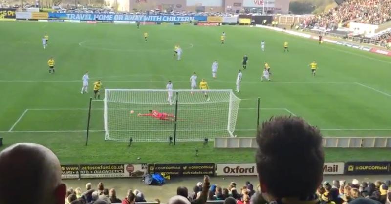Fantastic Fan Footage Of Oxford's Second Goal Against Swansea