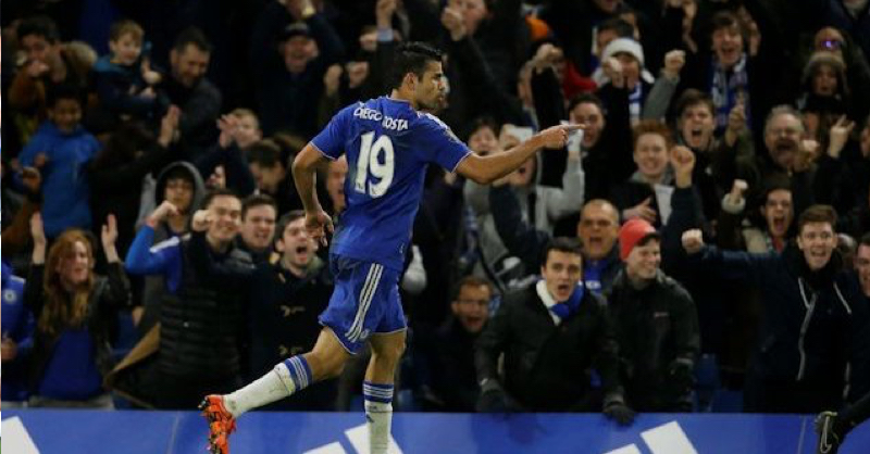 GOAL: Diego Costa Opens Scoring With Nice Volley