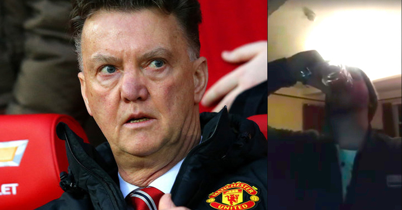 Manchester United Fan Drinks His Own Piss After Tweet Backfires