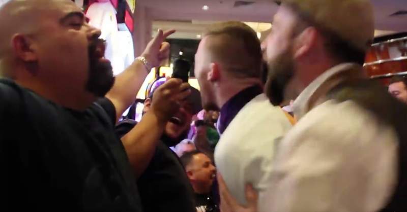 New Footage Of McGregor And Aldo Fans Almost Coming To Blows In Las Vegas
