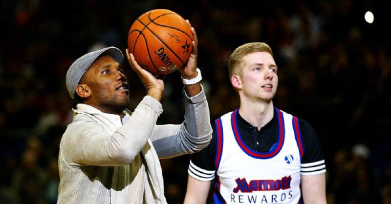 Didier Drogba Shows Off His Basketball Skills At NBA London Game