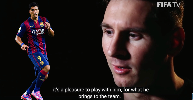 Lionel Messi Hails Luis Suarez As The Best No.9 In The World