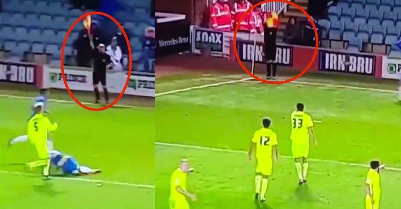 Hilarious Footage Of Linesman Who Doesn't Have A Clue How To Do His Job