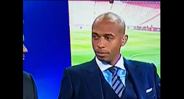 VIDEO: Thierry Henry's reaction to Gareth Barry being named as an England great!