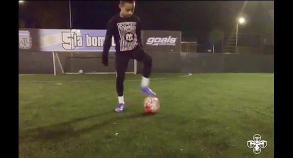 WATCH: New footage of 12 year-old Arsenal wonderkid Omari Hutchinson!