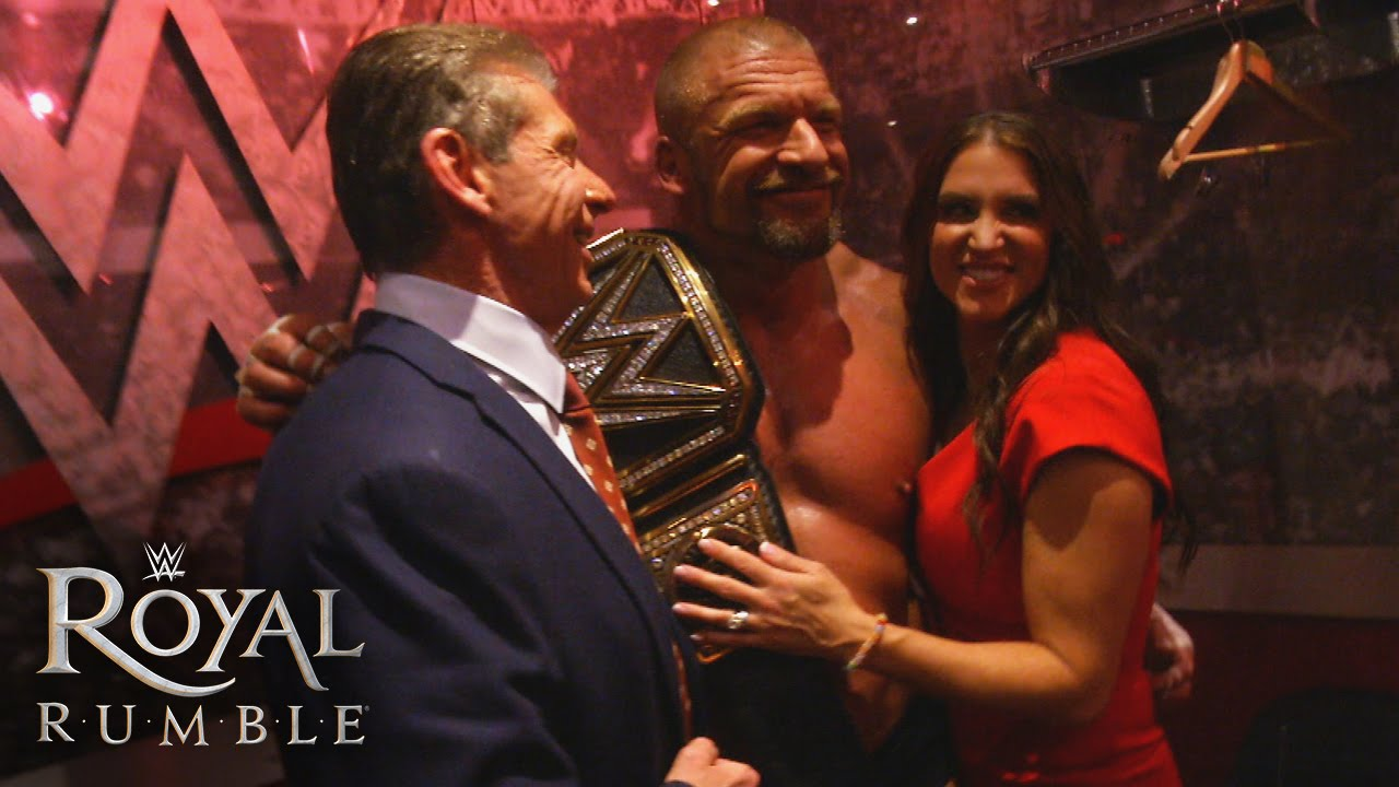 The McMahon Family Celebrates After Triple H's Historic Royal Rumble Victory