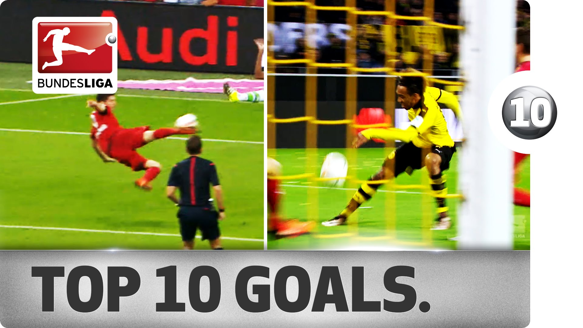Top 10 Bundesliga Goals During The First Half Of 2015/16 Season