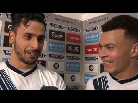 WATCH: Crystal Palace 1-3 Tottenham – Dele Alli & Nacer Chadli Post Match Interview