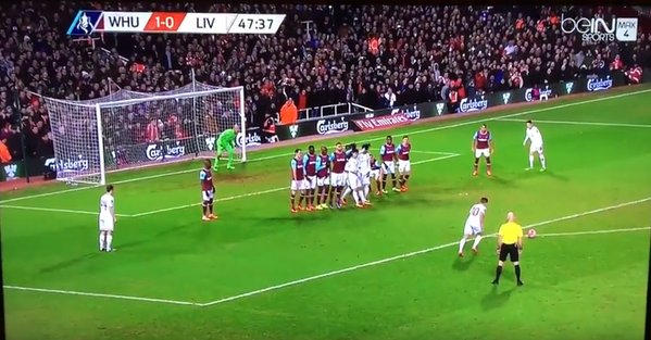 VIDEO: Phillip Coutinho Scores Very Cheeky Free-Kick Against West Ham
