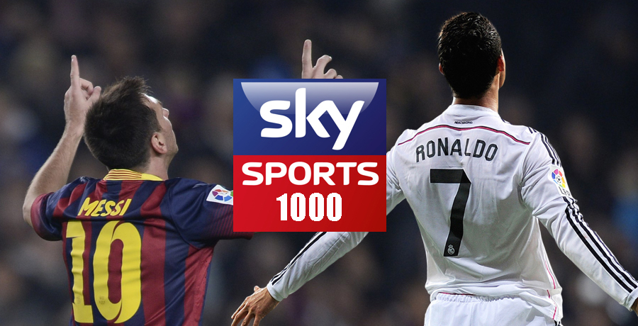 Sky Sports Make Amazing Ronaldo And Messi 1,000 Goals Celebration Video