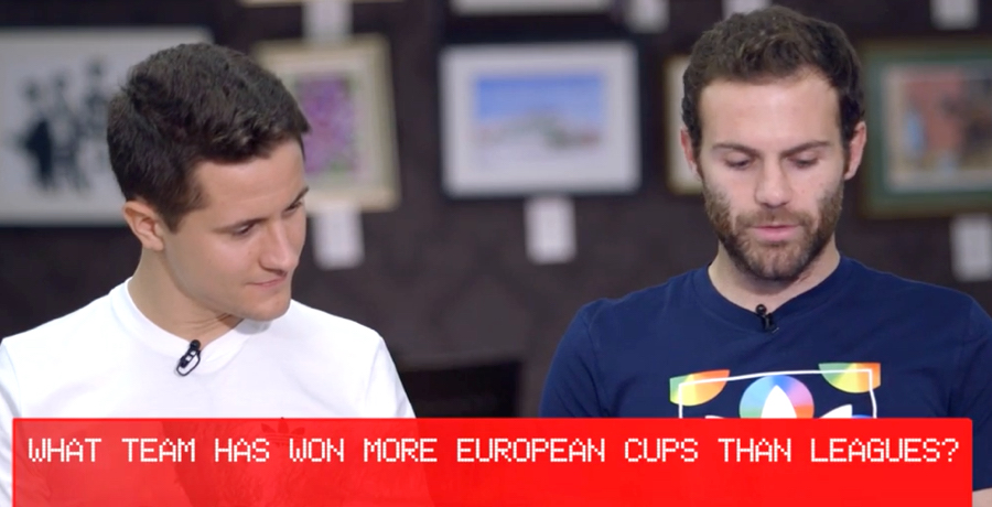 Juan Mata And Ander Herrera Test Their Champions League Knowledge