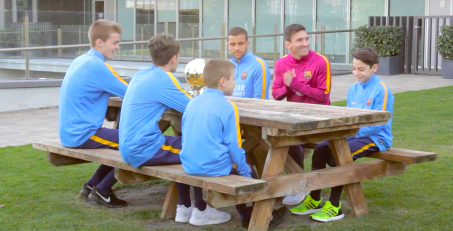 Lionel Messi Gets Interviewed By La Masia Kids About His 5th Ballon d'Or