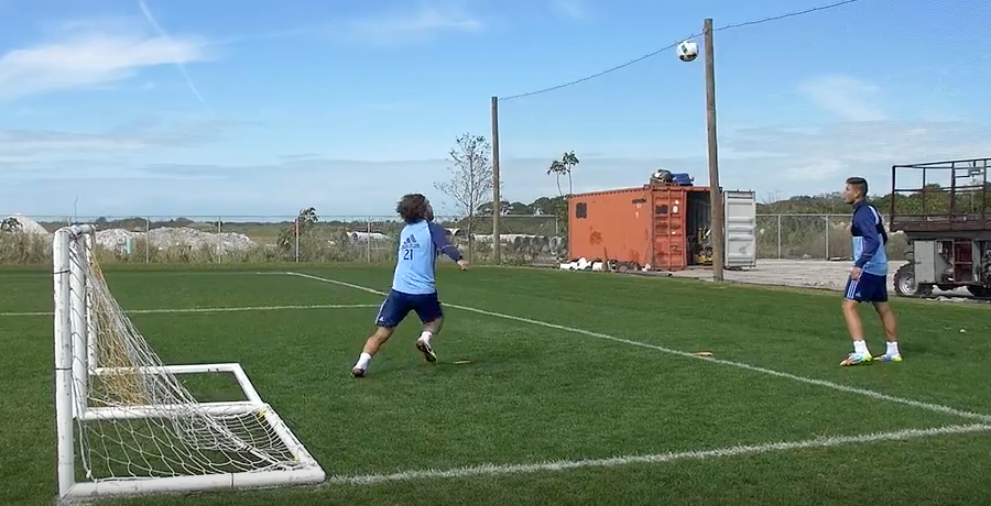 VIDEO: Andrea Pirlo And Diego Martinez Challenge Coaches To Game Of Football Tennis