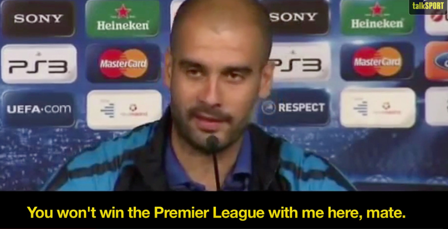 """VIDEO: Pep Guardiola Tells José Mourinho: """"England Is My Country Now"""""""