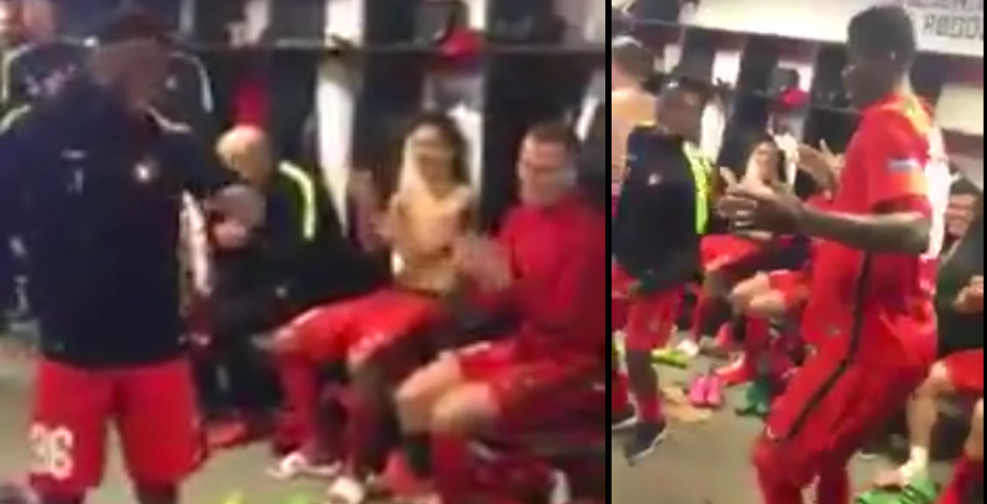 VIDEO: FC Midtjylland Celebrated Their Win Over Manchester United In Style
