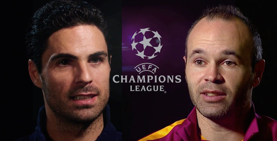 Andreas Iniesta And Mikel Arteta Gives Their Thoughts Ahead Of Arsenal v Barcelona Tie