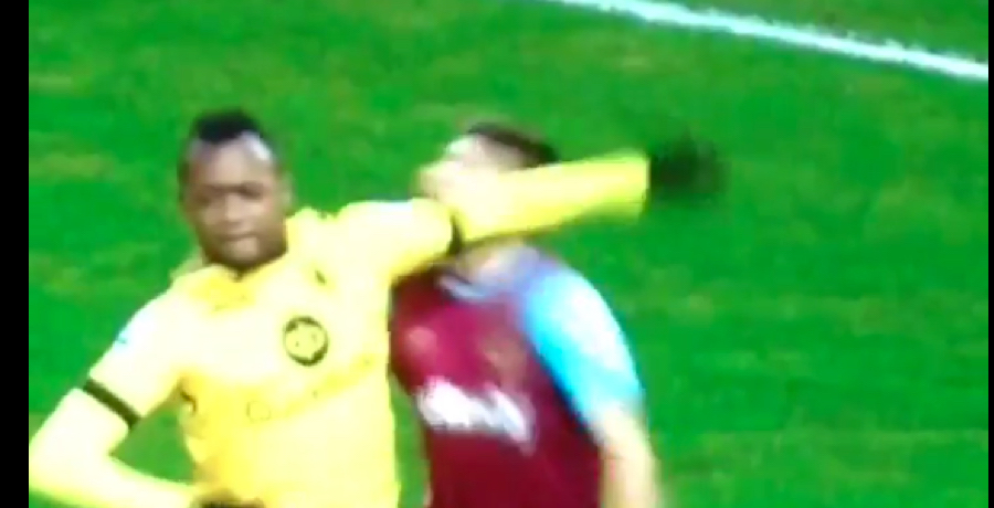 VIDEO: Jordan Ayew Gets Straight Red For Blatant Elbow