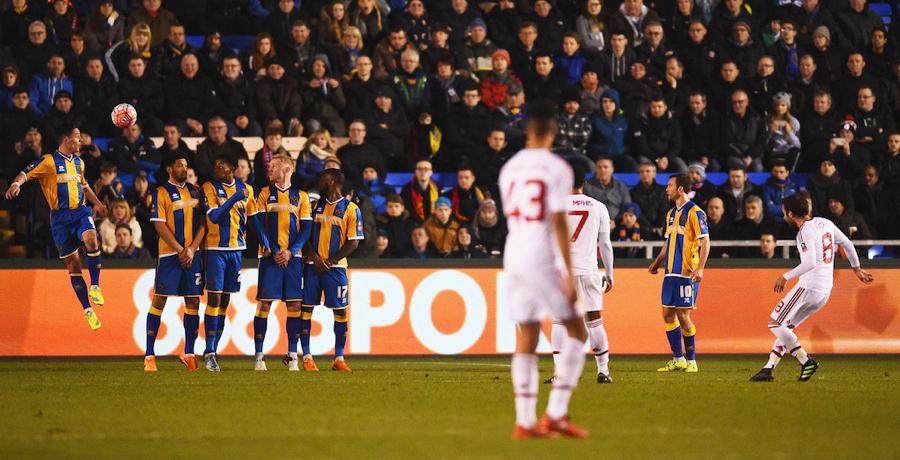 Juan Mata Scores Lovely Free-Kick v Shrewsbury Town