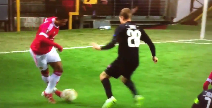 VIDEO: Memphis Depay Pulls Off Super Bit Of Skill Against FC Midtjylland