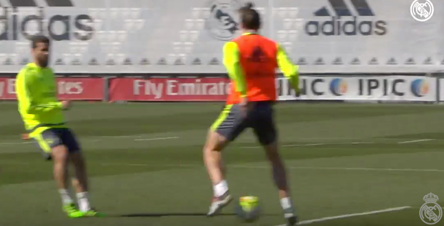 VIDEO: Gareth Bale Scores Cheeky Goal During Real Madrid Training