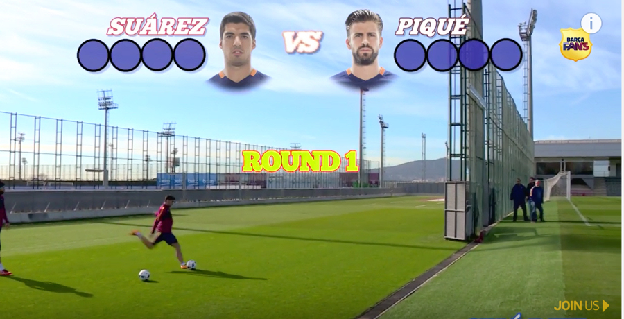 WATCH: Suarez And Pique Go Head To Head In Ultimate Swerve Challenge