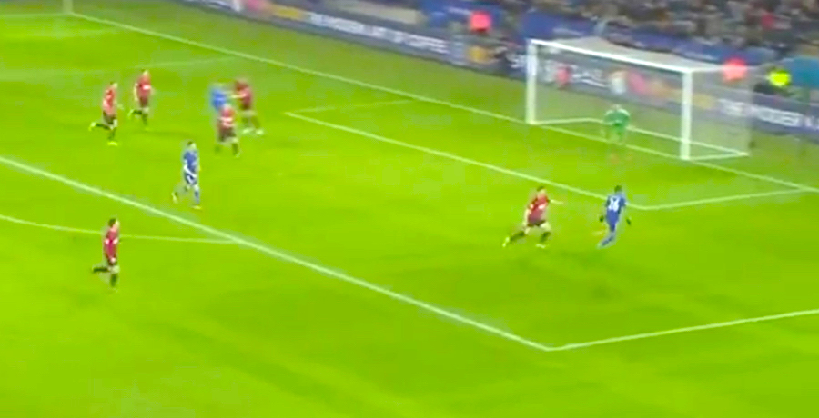 WATCH: Riyad Mahrez Pulls Off Amazing Backheel Assist