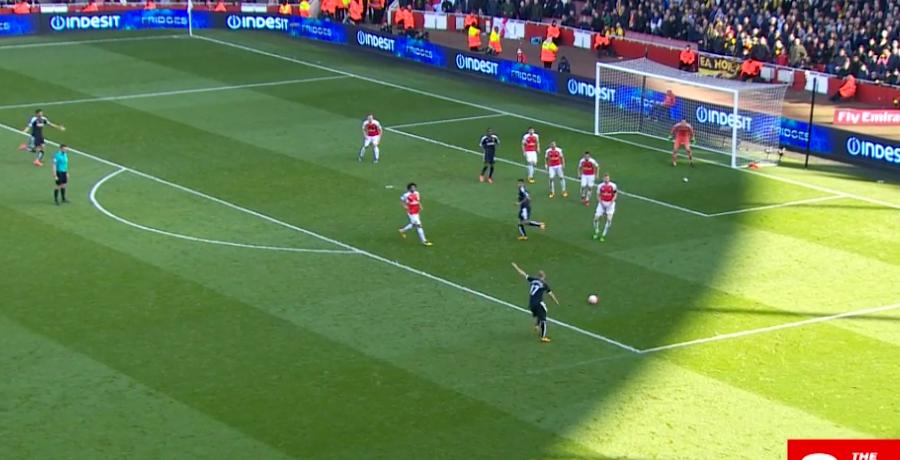 Adlene Guedioura Nearly Burst The Net With Stunning Strike Against Arsenal