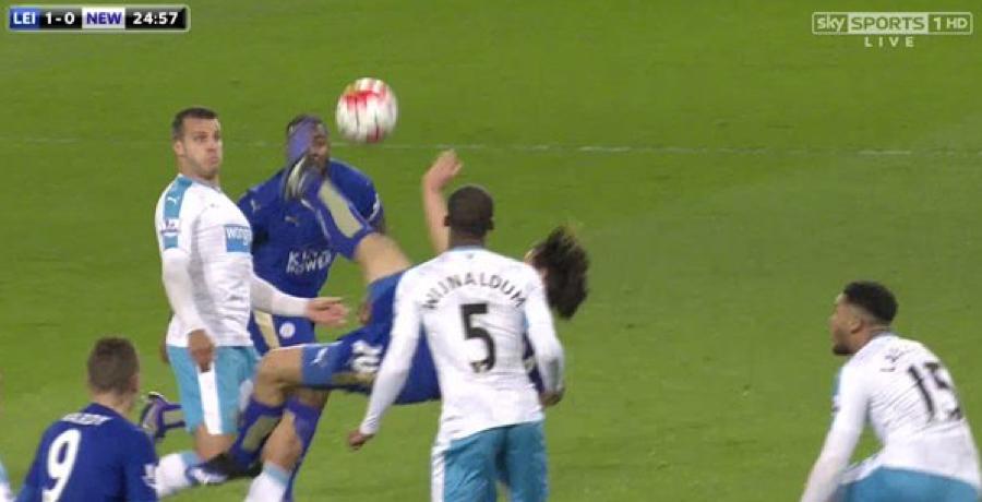 WATCH: Shinji Okazaki Scores Sensational Overhead-Kick Against Newcastle