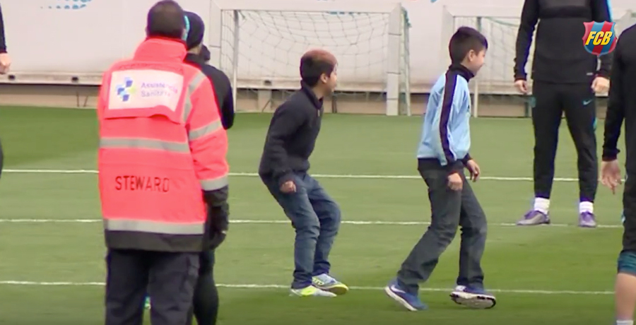 WATCH: Three Kids Invade Barcelona Training And Players Allow Them To  Join In