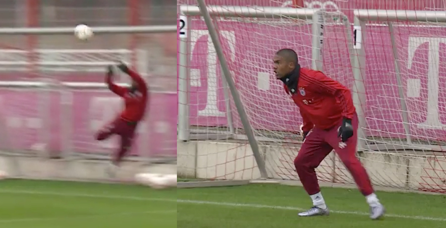 VIDEO: Douglas Costa Steps Into Goal And Does Extremely Well