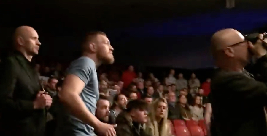 VIDEO: Conor McGregor Cheers On Charlie Ward At Total Extreme Fighting 1