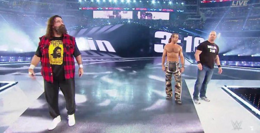 VIDEO: Shawn Michaels, Mick Foley And Steve Austin Make Epic WrestleMania Comeback