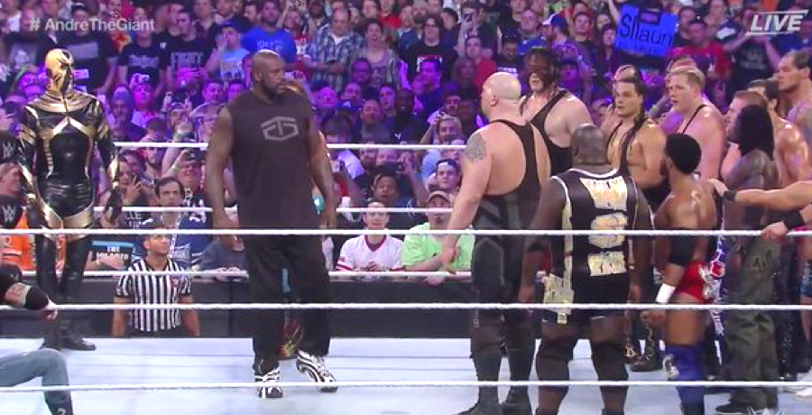 VIDEO: Shaquille O'Neal Makes Special Guest Appearance At WrestleMania