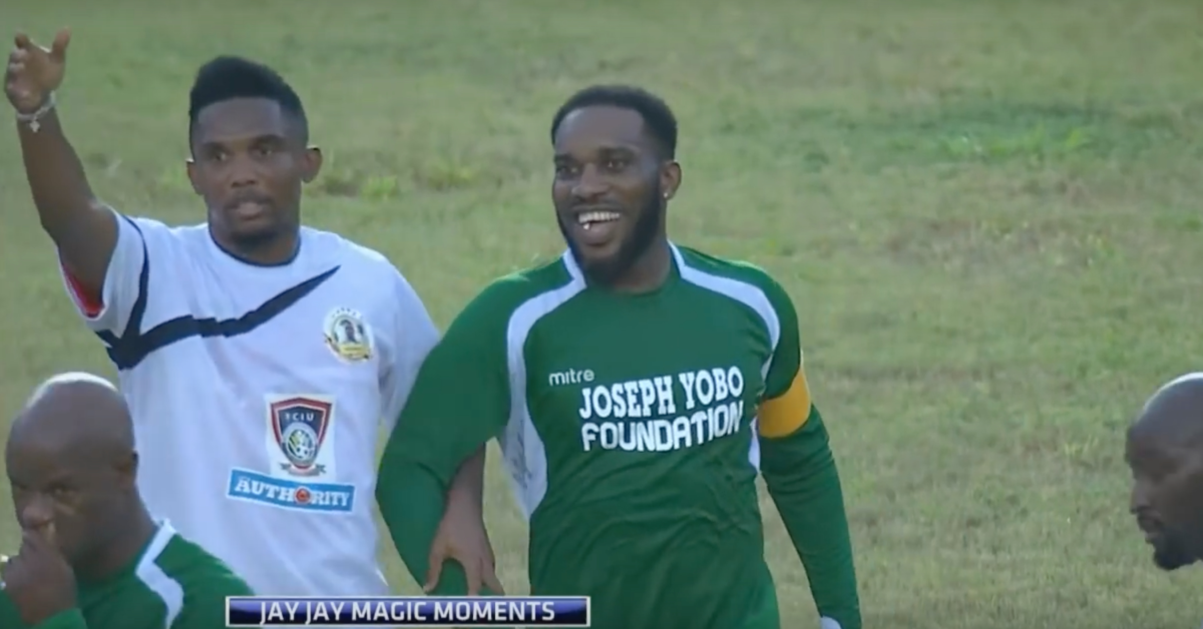 THROWBACK: Eto'o Tries To Get Jay Jay Okocha Subbed For Being Too Good