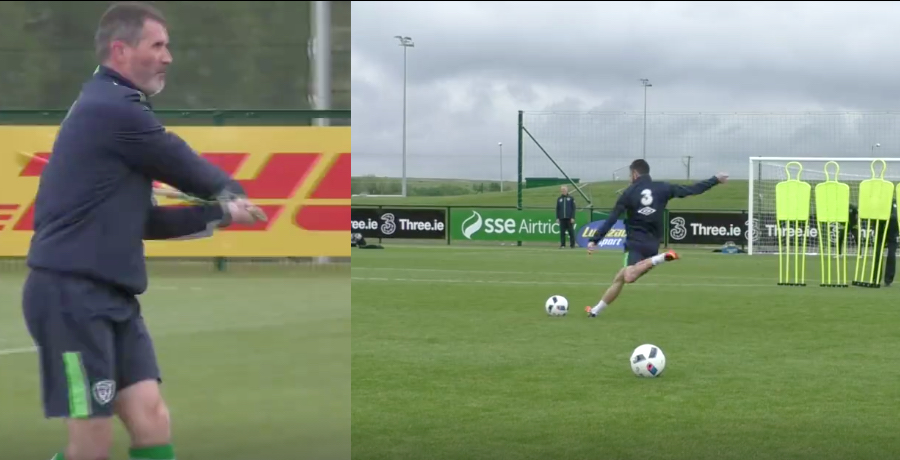 Irish Squad Play Hurling And Robbie Brady Scores A Belter Of A Free-Kick