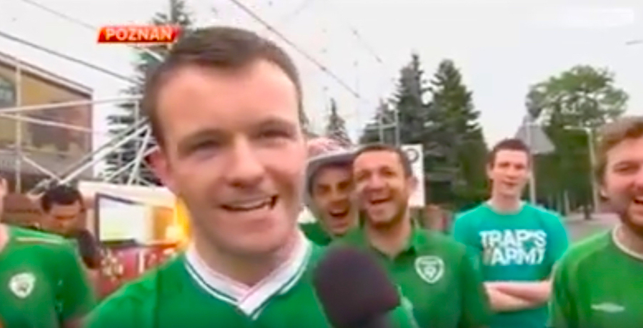 WATCH: Throwback To The Funniest Irish Fans Interview Of Euro 2012