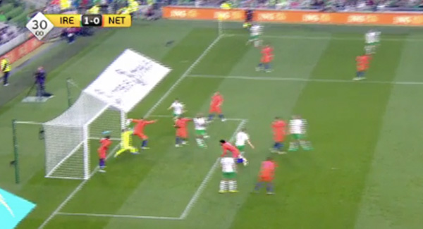 WATCH: Shane Long's goal that has Ireland 1-0 up at half-time!