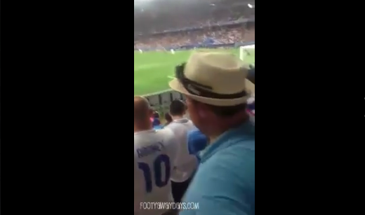 England fan absolutely looses his sh*t during England's defeat to Iceland!!