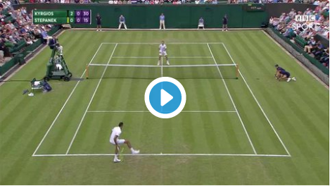 VIDEO: Outrageous shot from Nick Kyrgios at Wimbledon today!