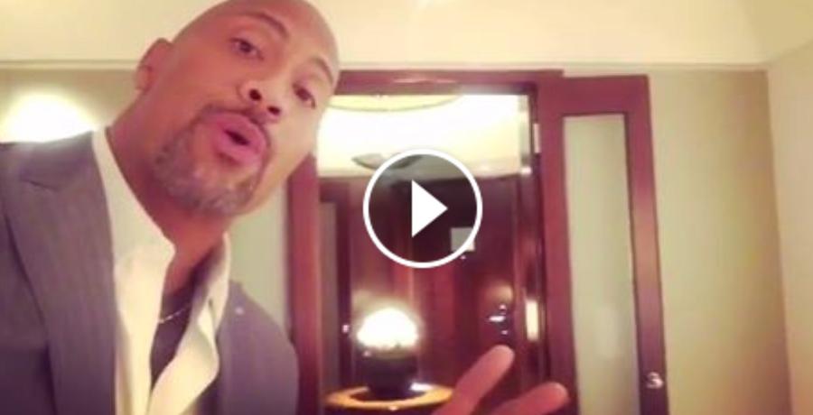 Dwayne 'The Rock' Johnson Trolls Kevin Hart In Funny Hotel Room Tour Video
