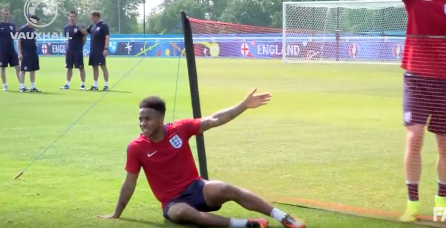 WATCH: England Squad Play Class Game Of One-Touch Tennis
