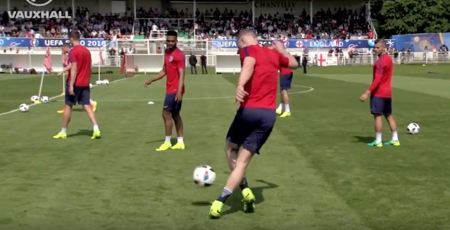 WATCH: Joe Hart Produces Rabona Nutmeg During England Training