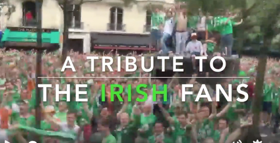 VIDEO: Fantastic Tribute To Irish Fans Shows How Much They'll Be Missed