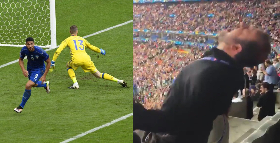 VIDEO: Italian Journalist Loses His Sh*t When Italy Score Second Goal