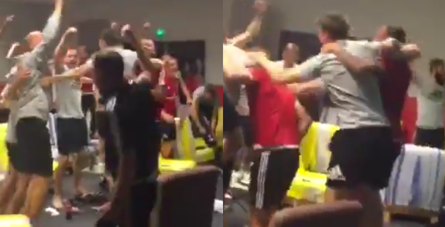 VIDEO: Footage Of Wales Squad Going Crazy When Iceland Beat England