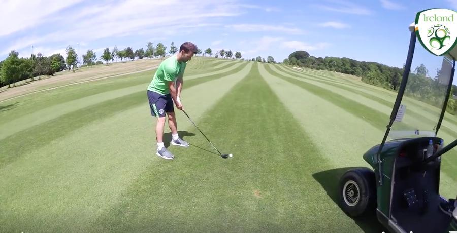 Robbie Brady And Stephen Quinn Prank Wes Hoolahan During Round Of Golf