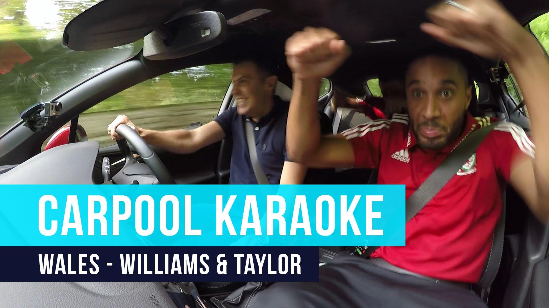 Ashley Williams & Neil Taylor | Carpool Karaoke – Crazy Singing, Rapping, Dancing