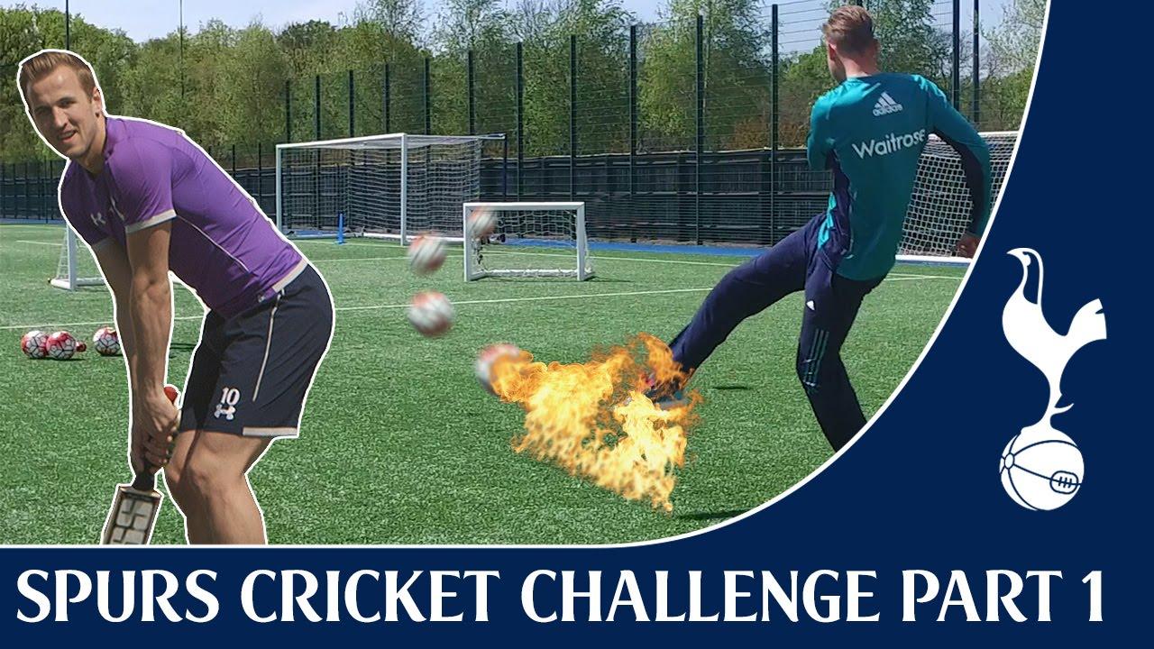 Harry Kane & Stuart Broad vs Tom Carroll & Moeen Ali Compete In Cricket Challenge
