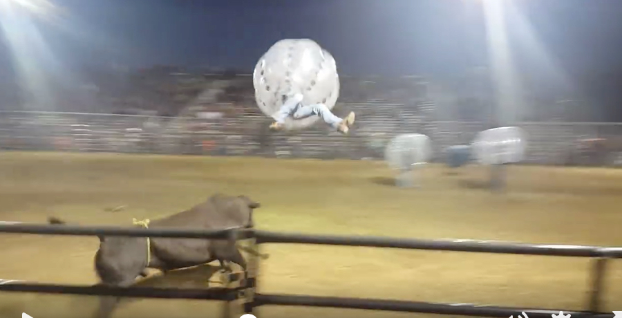 VIDEO: Bullfighter Almost Goes Into Orbit During Failed 5-A-Side Rodeo Stunt