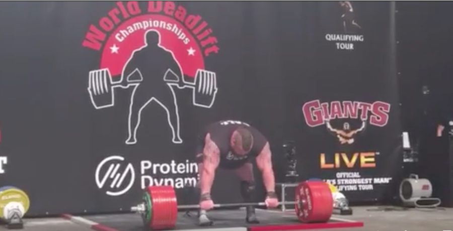 WOW: Eddie Hall Completes 500KG Deadlift And Makes It Look Easy